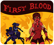 First Blood Poster for Free State Roller Derby - Adobe Photoshop
