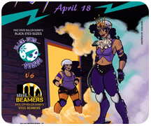 Purple Reign Poster for Free State Roller Derby